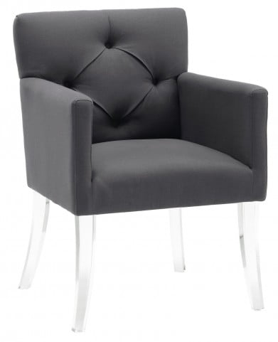 Lafayette Grey Linen Acrylic Chair