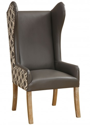 Lund Leather/Fabric Arm Chair