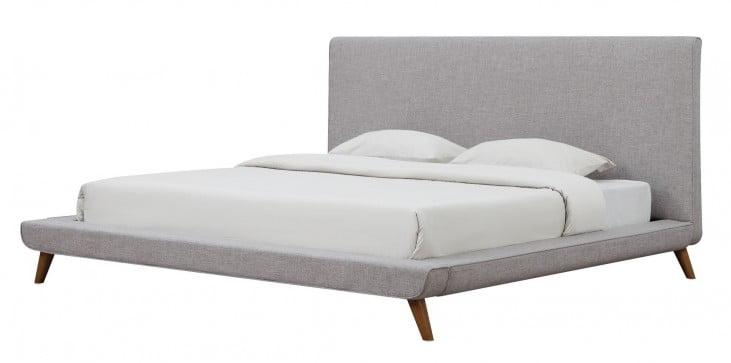 Nixon Beige Linen Queen Bed