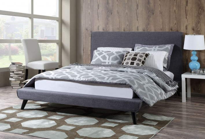 Nixon Gray Linen King Bed