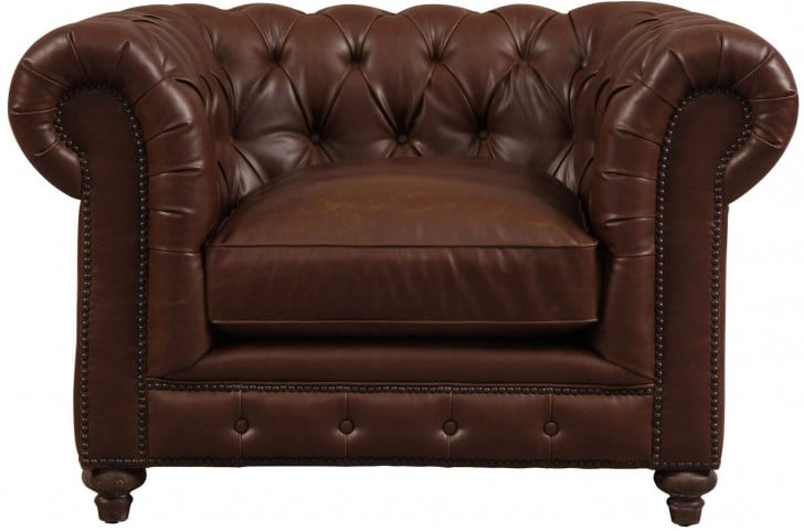 Durango Antique Brown Leather Club Chair