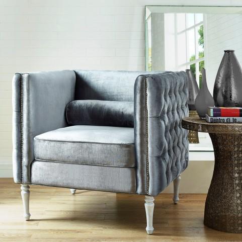 Bryn Gray Velvet Chair