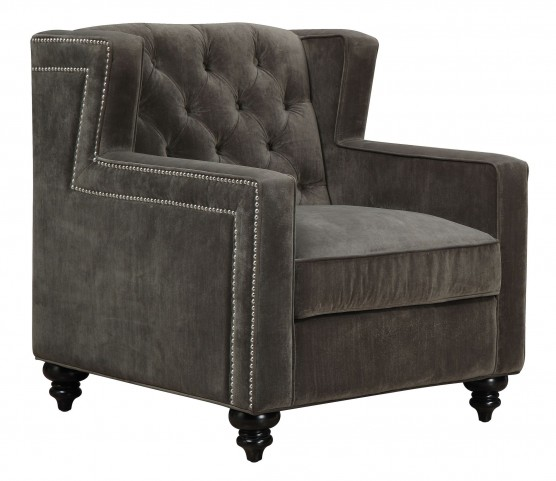 Sydney Pewter Velvet Chair
