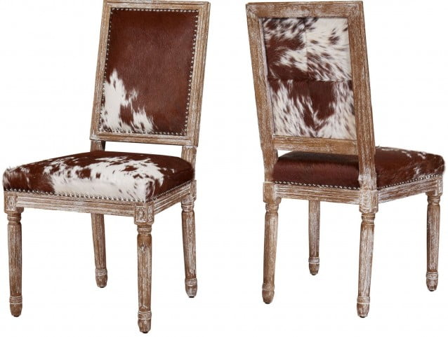Cowgirl Hide Side Chair Set of 2