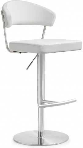 Cosmo White Stainless Steel Barstool