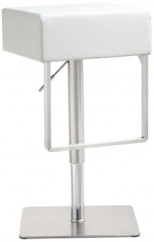 Seville White Stainless Steel Barstool