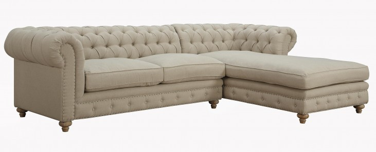 Oxford Beige Linen RAF Sectional