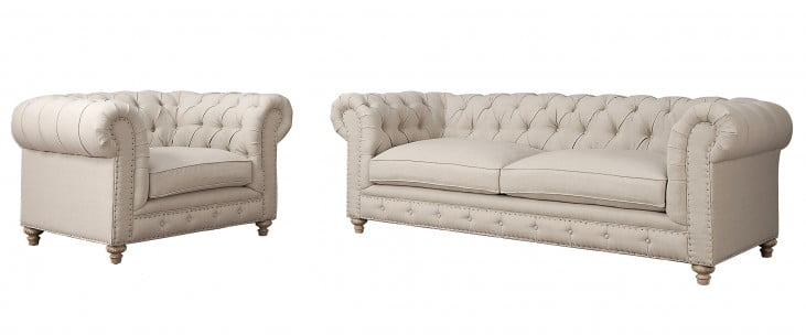Oxford Beige Living Room Set