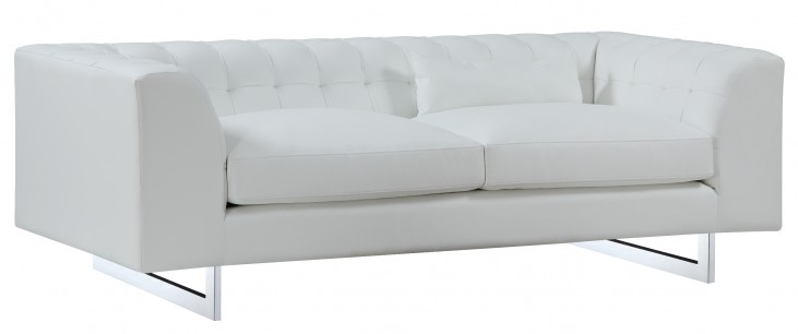 Vince White Leather Sofa