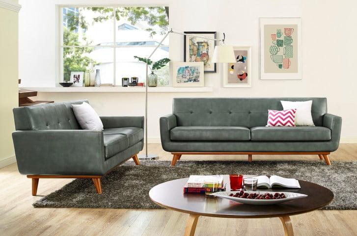 Lyon Smoke Grey Living Room Set