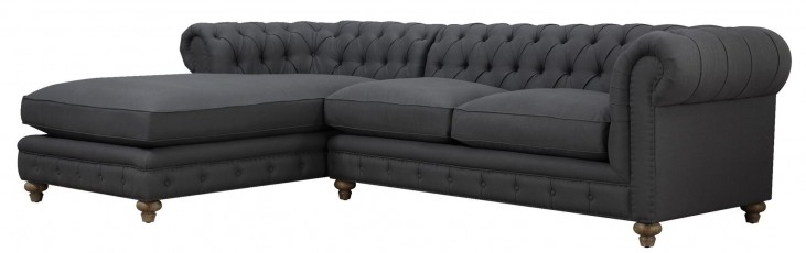 Oxford Gray Linen LAF Sectional