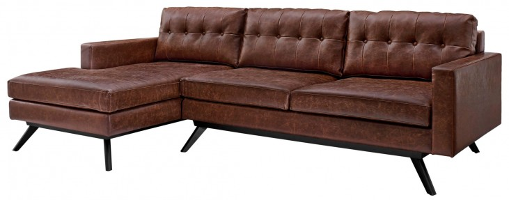Blake Antique Chestnut LAF Sectional