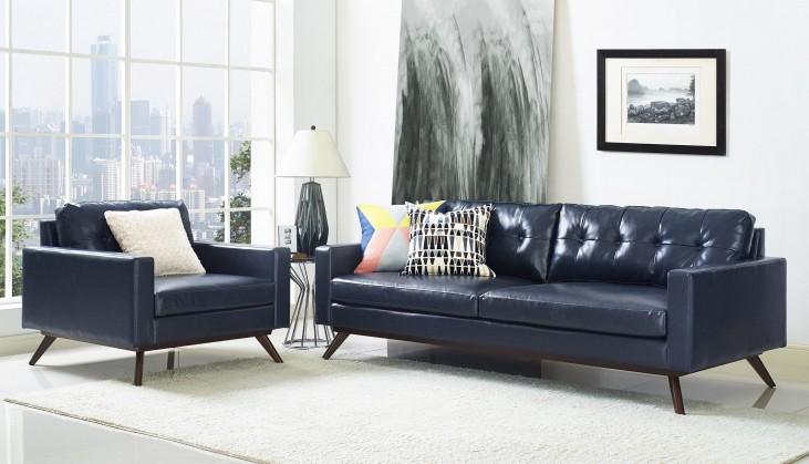 Blake Antique Blue Living Room Set