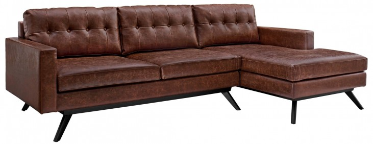 Blake Antique Chestnut RAF Sectional