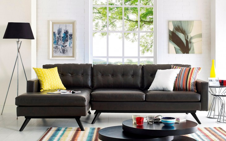 Blake Antique Brown LAF Sectional