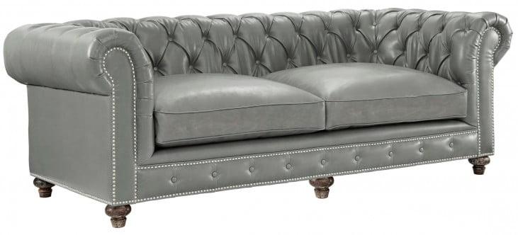 Durango Rustic Grey Leather Sofa