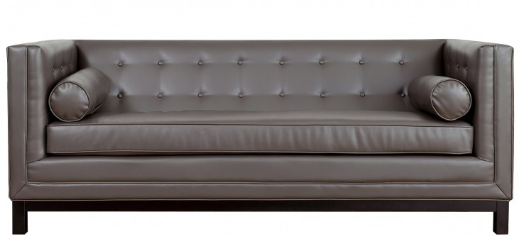 Zoe Grey Leather Sofa
