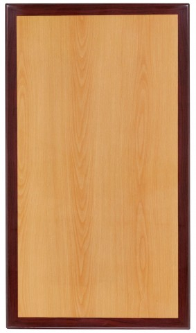 "30"" Rectangular Two-Tone Resin Cherry and Mahogany Table Top"