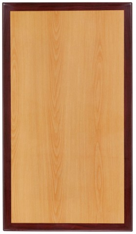 "45"" Rectangular Two-Tone Resin Cherry and Mahogany Table Top"