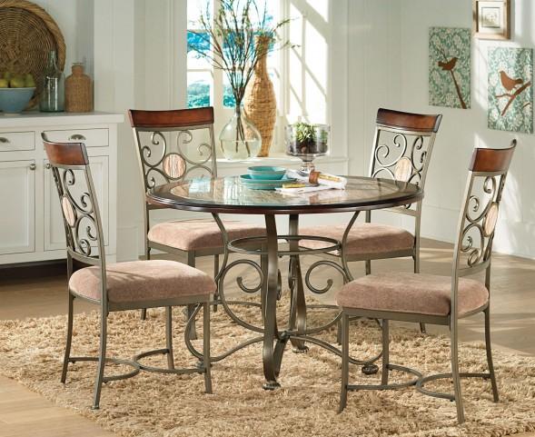 Thompson Warm Cherry Round Dining Room Set