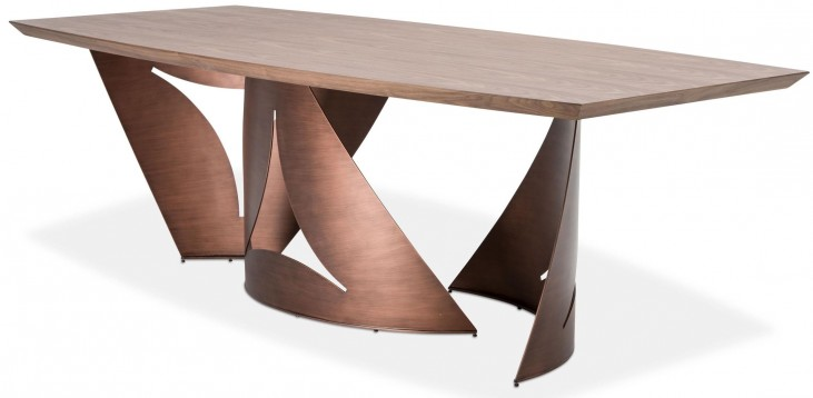 Trance Milan Brown Rectangular Wood Dining Table