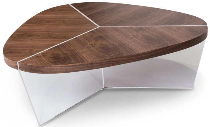 Trance Sector Brown Short Triangular Cocktail Table