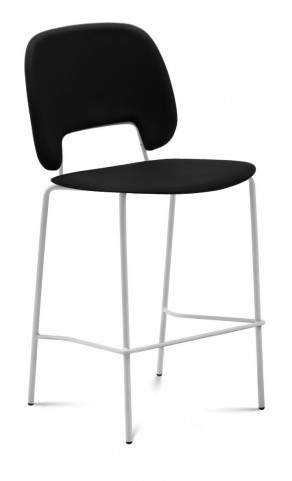 Traffic Skill Black Lacquered Steel White Frame Stacking Chair