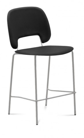 Traffic Skill Black Lacquered Steel Stacking Chair