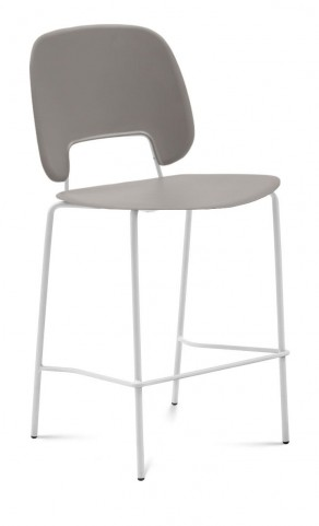 Traffic Sand Lacquered Steel White Frame Stacking Chair