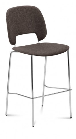 Traffic Flirt Brown Lacquered Steel Chrome Frame Stacking Chair