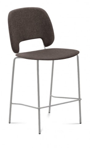 Traffic Flirt Brown Lacquered Steel Sand Frame Stacking Chair