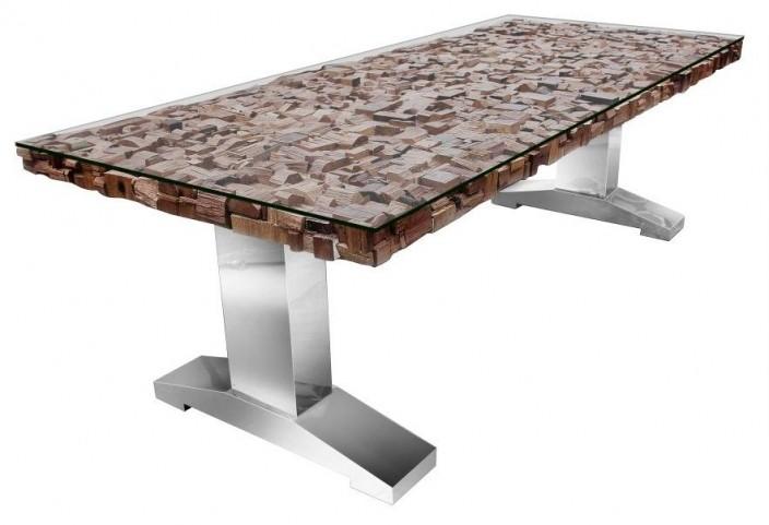 Taj Trapasso Stainless Steel Dining Table