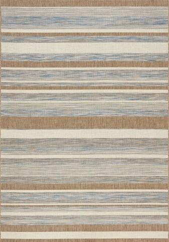 Trellis Grey/Brown/Beige Stripes Flatweave Medium Rug