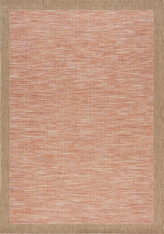 Trellis Red/Brown Border Flatweave Medium Rug