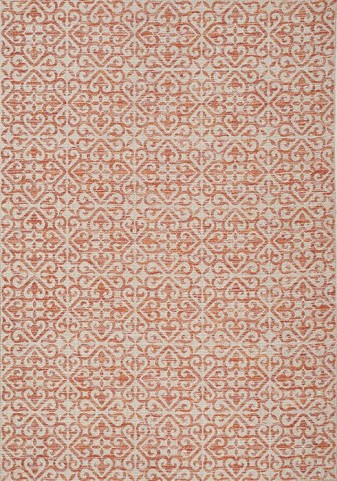 Trellis Red and Beige and Grey Wrought Iron Flatweave Medium Rug