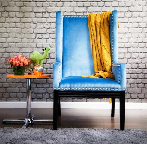 Tribeca Blue Velvet Chair