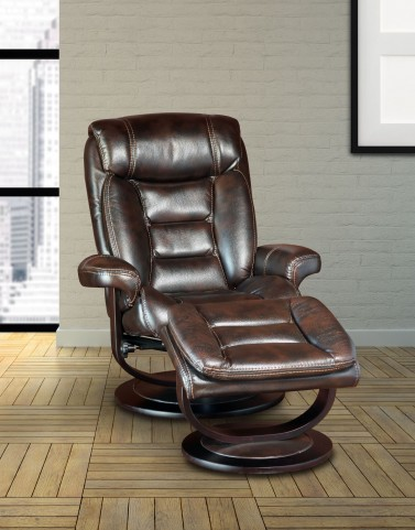 Triton Nutmeg Swivel Recliner And Ottoman