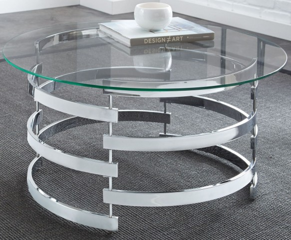 Tayside Glass Top Round Cocktail Table