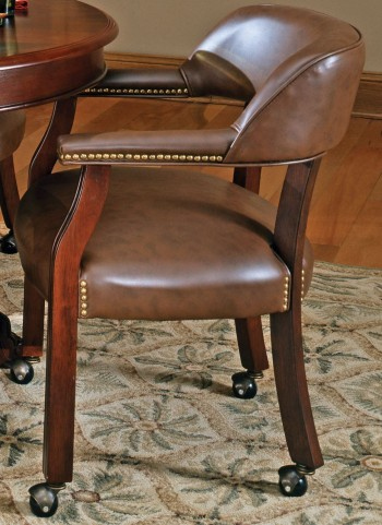 Tournament Brown Captains Chair