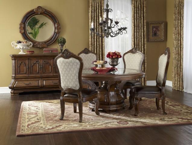 Tuscano Melange Round Dining Room Set