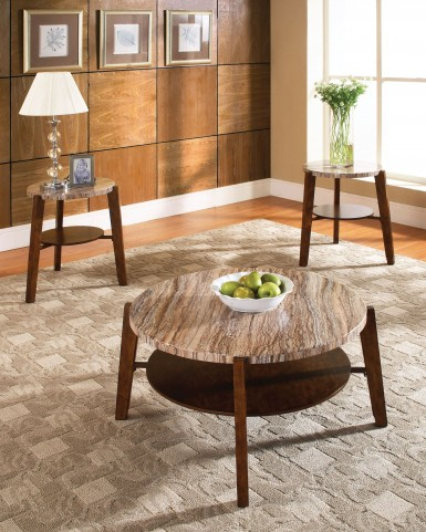 Tivoli 3 Piece Marble Top Occasional Table Set