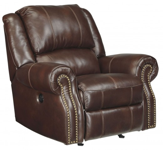 Collinsville Chestnut Power Rocker Recliner