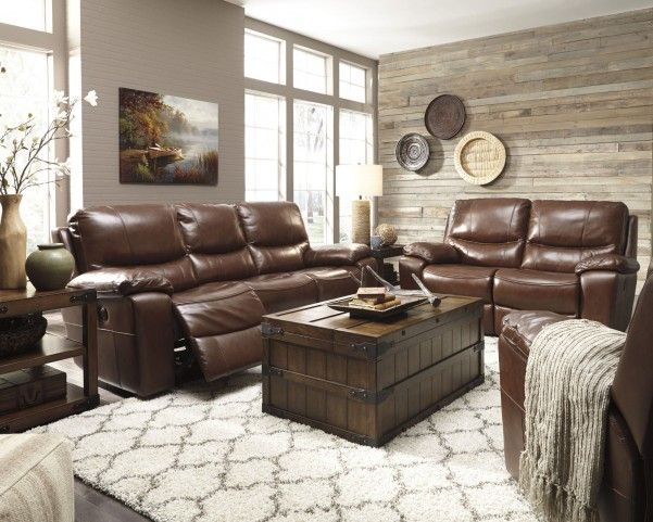 Penache Saddle Reclining Living Room Set