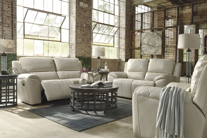 Valeton Cream Power Reclining Living Room Set