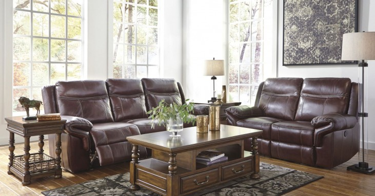 Zephen Mahogany Reclining Power Reclining Living Room Set