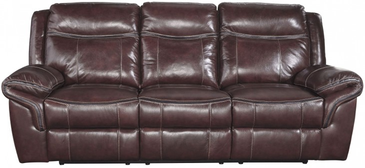 Zephen Mahogany Reclining Power Reclining Sofa