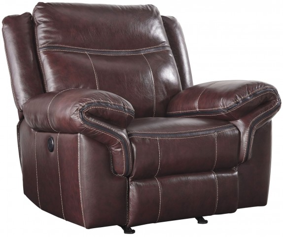 Zephen Mahogany Power Rocker Recliner