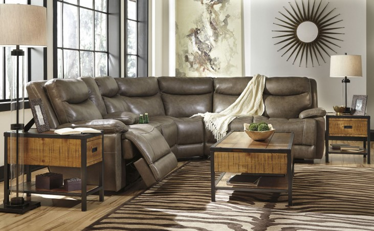 Zaiden Quarry Reclining Sectional