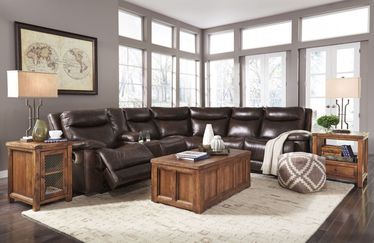 Zaiden Antique Power Reclining Sectional
