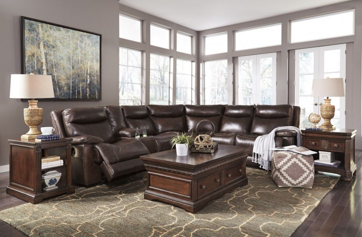 Zaiden Antique Reclining Sectional